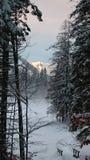 Sundowner na montanha imagens de stock royalty free