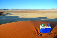 Sundowner near Sossusvlei Royalty Free Stock Photo