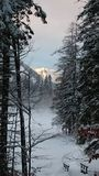 Sundowner op Berg Royalty-vrije Stock Afbeeldingen