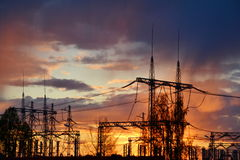 Sundowns on electric full tilt Royalty Free Stock Image