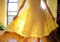 sundress κίτρινος Στοκ φωτογραφίες με δικαίωμα ελεύθερης χρήσης