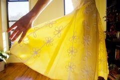 Sundress amarelo foto de stock