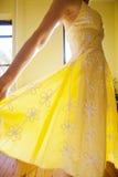Sundress amarelo imagens de stock