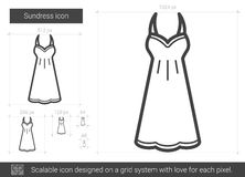 Sundress line icon. Royalty Free Stock Photo