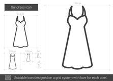 Sundress line icon. Stock Photos