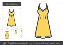 Sundress line icon. Stock Photography