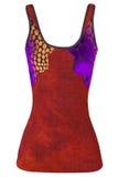 Sundress rossi delle donne isolati su bianco Immagini Stock