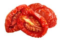 Sundried половины томата, пути Стоковые Фото