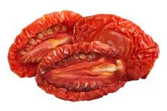 Sundried половины томата, пути Стоковое Фото