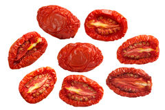 Sundried половины томата, пути Стоковое фото RF