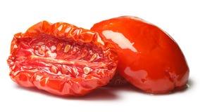 Sundried половины томата с оливковым маслом Стоковое фото RF