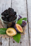 Sundried Plums Royalty Free Stock Photography