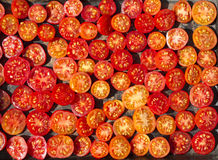 Sundried red cherry tomatoes. Background from Sundried red cherry tomatoes Stock Image