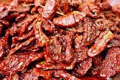 Sundried red tomatoes in olive oil Royalty Free Stock Photography