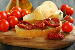 Sundried Tomato Bruschetta. Royalty Free Stock Images