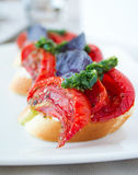 Sundried Tomato Bruschetta Stock Images