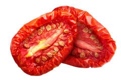 Sundried tomato halves, paths Royalty Free Stock Images