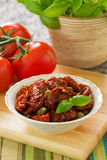 Sundried tomatoes. And capers in olive oil Royalty Free Stock Image