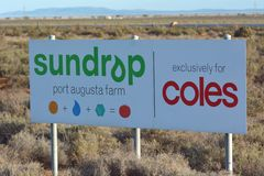 Sundrop Farms Port Augusta South Australia. Sundrop Farms,high tech greenhouse facility using technology solutions to grow crops with less reliance on finite royalty free stock photography