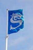 Sundsvall kommunflagga royaltyfria bilder