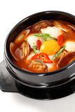 Sundubu jjigae, korean cuisine Royalty Free Stock Photo