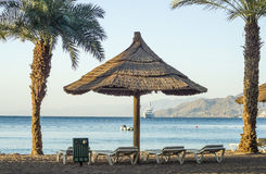Sundy beach of Eilat Stock Photography