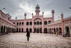 Sunehri moské, Peshawar, Paksitan Arkivbild
