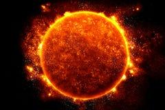 Sunen half långt igenom Arkivfoton