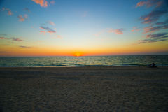 Sunest沙滩 免版税图库摄影