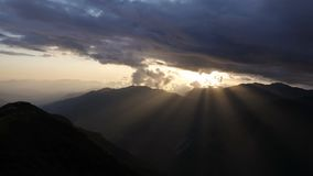 Sunet in Himalayas time lapse stock video