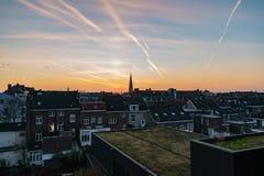 Sunet in Maastricht, Nederland royalty-vrije stock fotografie