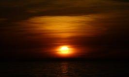 sunet mar del Стоковые Фотографии RF