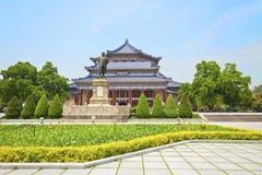 Sunet Yat-sen minnes- Hall i Guangzhou, Kina. royaltyfri fotografi