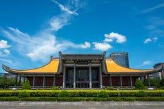 Sunet Yat-sen minnes- Hallin Taipei royaltyfria foton