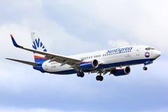 SunExpress波音737 免版税库存图片