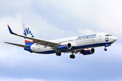 SunExpress Боинг 737 Стоковое Изображение RF