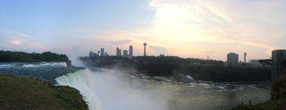 Sunfalls på Niagara Arkivfoton
