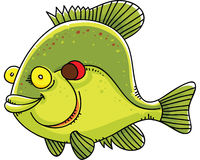 Sunfish. A happy, cartoon sunfish with a friendly grin Royalty Free Stock Images