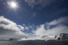 Sunflare in Antarctica. Royalty Free Stock Images