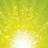 Sunflare grungeblue base ribbons Stock Image