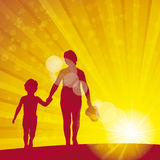 Sunflare orange 1 kids Stock Photography