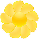 Sunflower. Sun like sunflower, web button illustration Stock Photography