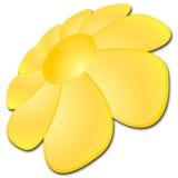 Sunflower. Sun like sunflower, web button illustration Stock Photo