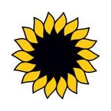 Sunflower. Logo. Vector illustration (EPS 8&#x29 Royalty Free Stock Photography