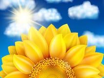 Sunflower against blue sky. EPS 10 Royalty Free Stock Photos