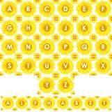 Sunflower alphabet Royalty Free Stock Image