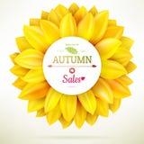 Sunflower autumn sale. EPS 10 Stock Photo
