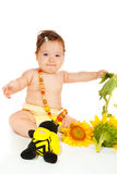 Sunflower baby Stock Photography