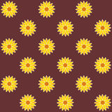 Sunflower Background. Sunflower Seamless Pattern. Vector Royalty Free Stock Photography