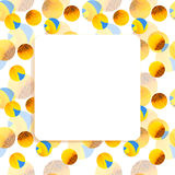 Sunflower, bee frame square banner Royalty Free Stock Photography